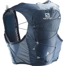 Salomon Active Skin 8 Backpack Set copen blue/dark denim
